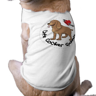 I Love My Happy Adorable Funny & Cute Cocker Spani Pet T Shirt