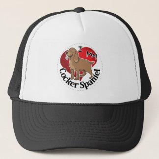 I Love My Happy Adorable Funny & Cute Cocker Spani Trucker Hat