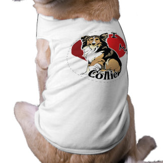 I Love My Happy Adorable Funny & Cute Collie Dog Doggie Tshirt