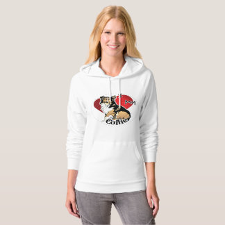 I Love My Happy Adorable Funny & Cute Collie Dog Hoodie