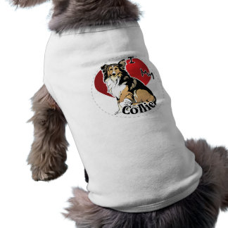 I Love My Happy Adorable Funny & Cute Collie Dog Shirt