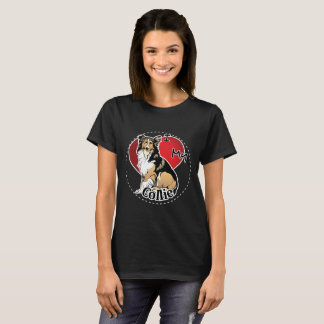 I Love My Happy Adorable Funny & Cute Collie Dog T-Shirt