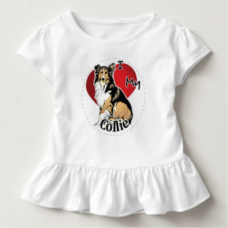 I Love My Happy Adorable Funny & Cute Collie Dog Toddler T-shirt