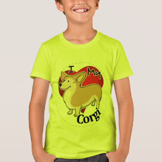 I Love My Happy Adorable Funny & Cute Corgi Dog T-Shirt