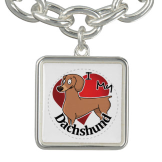 I Love My Happy Adorable Funny & Cute Dachshund Bracelets