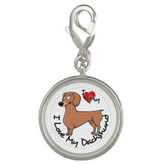 I Love My Happy Adorable Funny & Cute Dachshund Do Charms