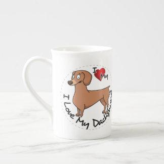 I Love My Happy Adorable Funny & Cute Dachshund Do Tea Cup