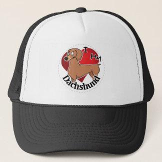 I Love My Happy Adorable Funny & Cute Dachshund Trucker Hat