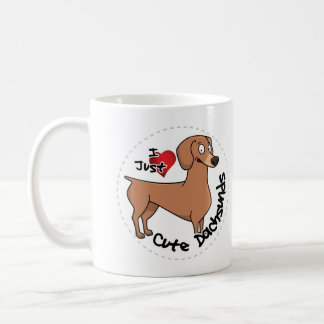 I Love My Happy Adorable Funny & Cute Dachsund Dog Coffee Mug