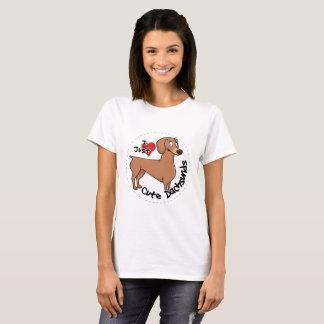 I Love My Happy Adorable Funny & Cute Dachsund Dog T-Shirt
