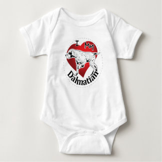 I Love My Happy Adorable Funny & Cute Dalmatian Baby Bodysuit