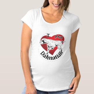 I Love My Happy Adorable Funny & Cute Dalmatian Maternity T-Shirt