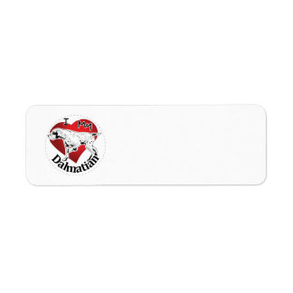 I Love My Happy Adorable Funny & Cute Dalmatian Return Address Label