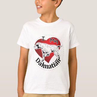 I Love My Happy Adorable Funny & Cute Dalmatian T-Shirt