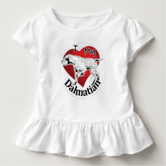 I Love My Happy Adorable Funny & Cute Dalmatian Toddler T-shirt