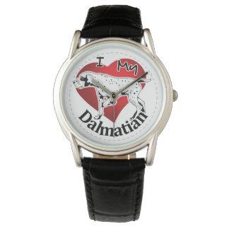 I Love My Happy Adorable Funny & Cute Dalmatian Watch