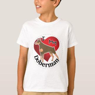 I Love My Happy Adorable Funny & Cute Doberman Dog T-Shirt