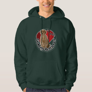 I Love My Happy Adorable Funny & Cute Golden Retri Hoodie