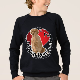 I Love My Happy Adorable Funny & Cute Golden Retri Sweatshirt