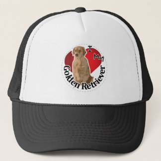 I Love My Happy Adorable Funny & Cute Golden Retri Trucker Hat