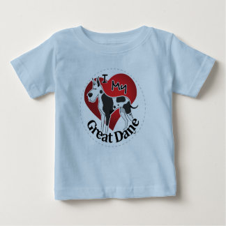I Love My Happy Adorable Funny & Cute Great Dane Baby T-Shirt