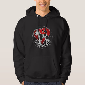 I Love My Happy Adorable Funny & Cute Great Dane Hoodie