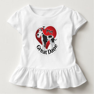 I Love My Happy Adorable Funny & Cute Great Dane Toddler T-shirt