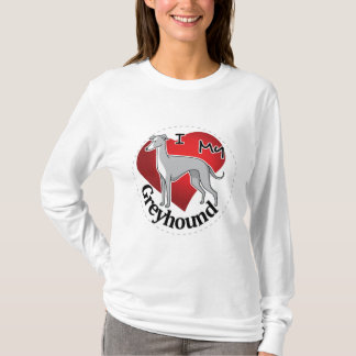 I Love My Happy Adorable Funny & Cute Greyhound T-Shirt