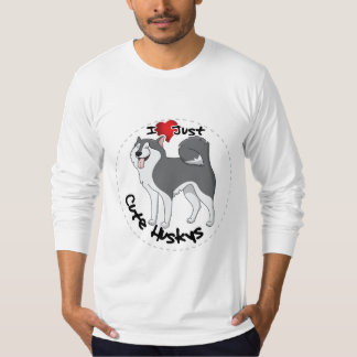 I Love My Happy Adorable Funny & Cute Husky Dog T-Shirt