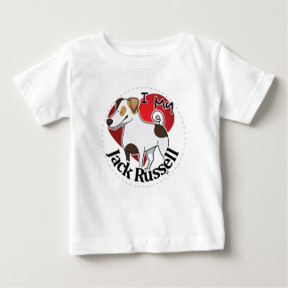 I Love My Happy Adorable Funny & Cute Jack Russell Baby T-Shirt