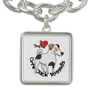 I Love My Happy Adorable Funny & Cute Jack Russell Charm Bracelet