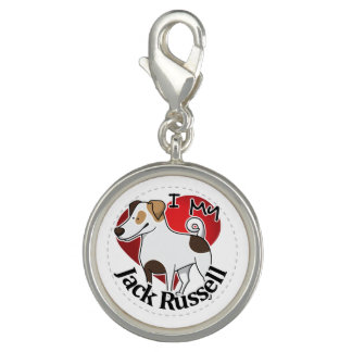 I Love My Happy Adorable Funny & Cute Jack Russell Charms