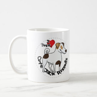 I Love My Happy Adorable Funny & Cute Jack Russell Coffee Mug