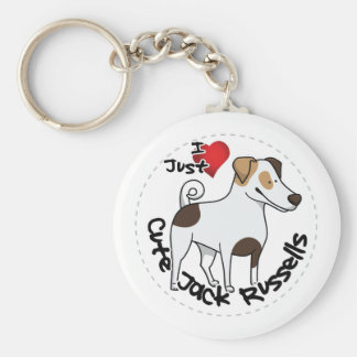 I Love My Happy Adorable Funny & Cute Jack Russell Keychain