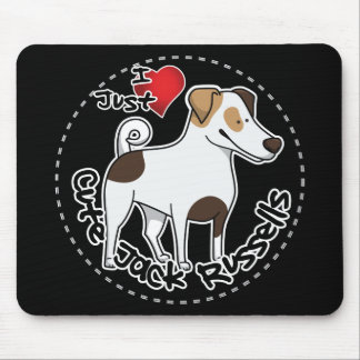 I Love My Happy Adorable Funny & Cute Jack Russell Mouse Pad