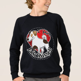 I Love My Happy Adorable Funny & Cute Jack Russell Sweatshirt