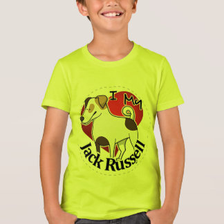 I Love My Happy Adorable Funny & Cute Jack Russell T-Shirt