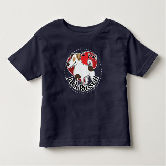 I Love My Happy Adorable Funny & Cute Jack Russell Toddler T-shirt