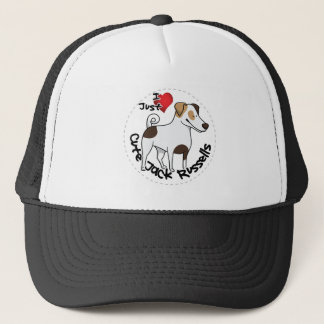 I Love My Happy Adorable Funny & Cute Jack Russell Trucker Hat