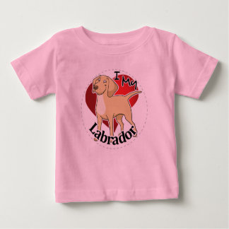 I Love My Happy Adorable Funny & Cute Labrador Dog Baby T-Shirt