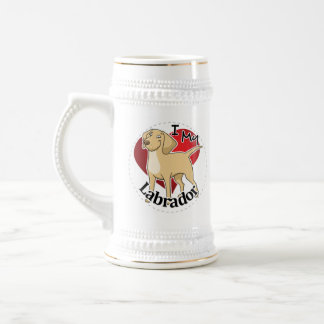 I Love My Happy Adorable Funny & Cute Labrador Dog Beer Stein