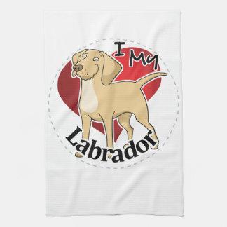 I Love My Happy Adorable Funny & Cute Labrador Dog Kitchen Towel