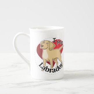 I Love My Happy Adorable Funny & Cute Labrador Dog Tea Cup