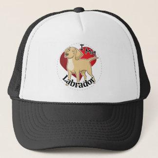 I Love My Happy Adorable Funny & Cute Labrador Dog Trucker Hat