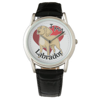 I Love My Happy Adorable Funny & Cute Labrador Dog Watch