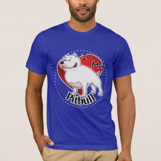 I Love My Happy Adorable Funny & Cute Pitbull Dog T-Shirt