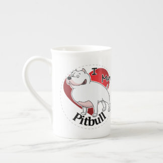 I Love My Happy Adorable Funny & Cute Pitbull Dog Tea Cup