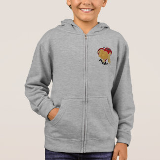 I Love My Happy Adorable Funny & Cute Poodle Dog Hoodie