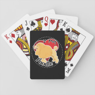 I Love My Happy Adorable Funny & Cute Poodle Dog Playing Cards