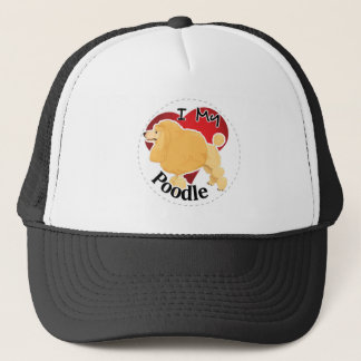 I Love My Happy Adorable Funny & Cute Poodle Dog Trucker Hat